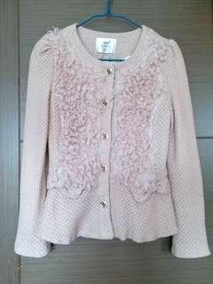 Korean brand Iris Dirty Pink colour coat