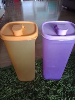 Tupperware 2L water containers