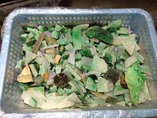 100%天然A貨翡翠原石碎料約3kg