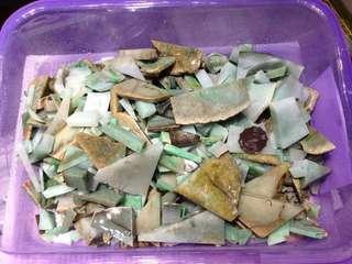 100%天然A貨翡翠原石碎料約6kg