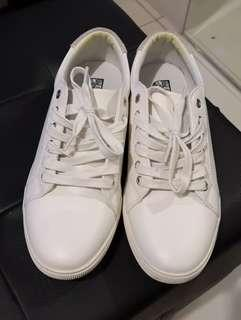 Bench White Faux Leather Sneakers