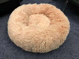 長毛毛粉紅寵物床