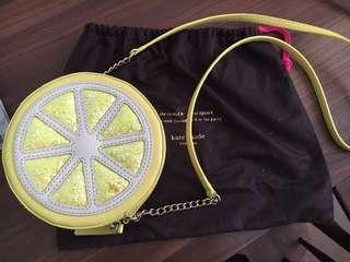 Late Spade Limited Edition Street Micha Clutch Lemon Leather Cross Body Bag