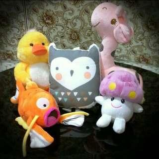 [Clearance/ Sales] Baby/Kids Soft Toys/ Plush Toys - Duck, Fish, Owl, Mushroom, Giraffe