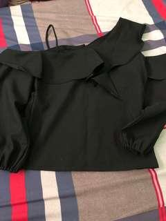 Black one sided top