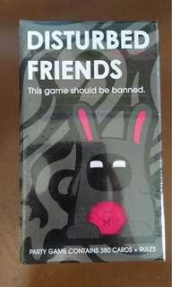 Brand New and Sealed Disturbed Friends Card Game