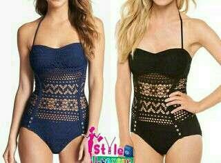 Chancy Crochet One Piece Swimsuit