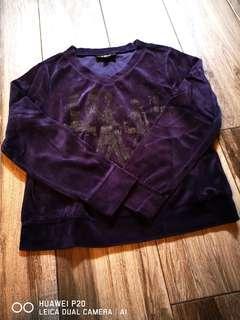 紫色燈芯絨均碼厚 55長 胸48