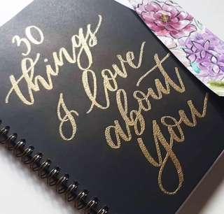Custom embossed notebook
