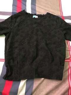 Bench black lace top
