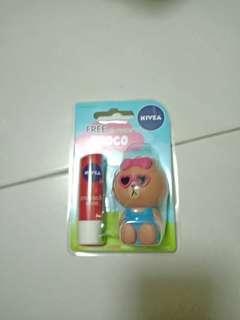[Line]Nivea lip balm free LINE lip holder