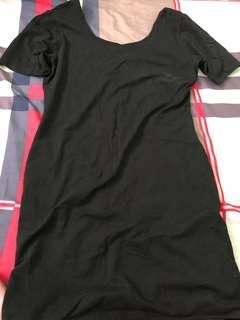 Forever 21 midi black dress
