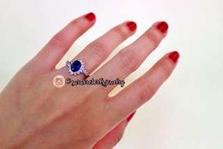 Tanzanite Sterling Silver Engagement Ring