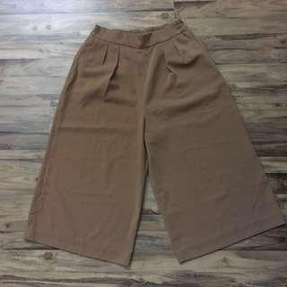 High quality Nude Brown Culottes