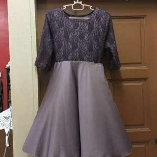Purple lavender custom made dinner dress