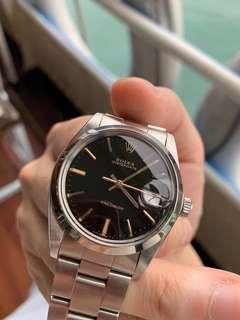 1986 勞力士 Rolex 6694 Oysterdate Precision Gilt Dial 黑金面 + 78350 錶帶