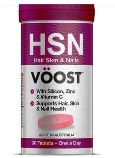 Voost hair skin and nails 30 tablets