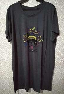 Plus Size T-Shirt Dress - Free Spirit, fits 2XL to 4XL