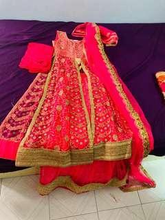 Brand new hot pink colour lehenga's (india clothing)