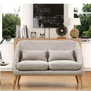 日式布藝梳化沙發客廳雙人三人位書房小型沙發梳化
