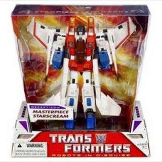 Transformers tfs MP-03 starscream plus free crown and cape