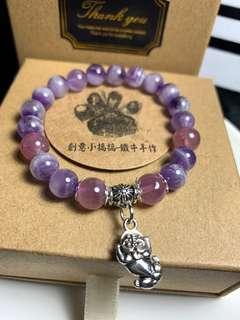 🚚 [薰衣草紫水晶 AMETHYST]原創手鍊 愛情守護石