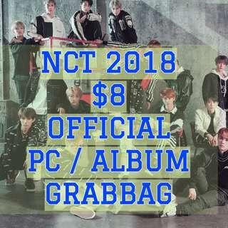 $8 OFFICIAL NCT PHOTOCARD / ALBUM GRABBAG (NCT 2018 / DREAM / 127 / U)
