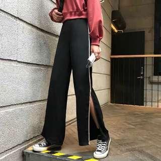 🚚 [PO] Black Pants with Side Slit