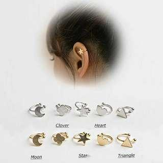 🚚 ✓ Instock Silver Gold Ear Cuff