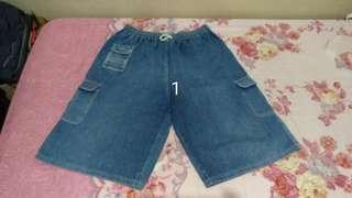celana tanggung cowo bahan jeans model gombrong bagus