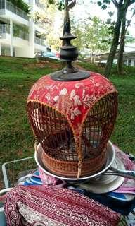 Bird cage small. Length. 8 inches. Height. 11  inches