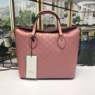 gucci signature leather top handle bag(Brand New)