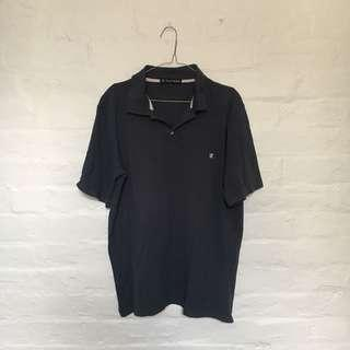 Vintage Trent Nathan Navy Polo Mens Tee   Size XL