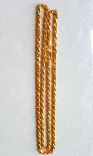 Today $1818,  60cm can overhead ,  916 Gold Necklaces 3mm thick