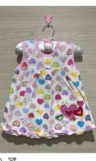 Dress lucu baby girl usia 3 bulan - 1 tahun new ( NETT)