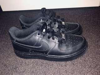 Nike Air Force 1's - all black