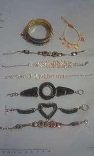 Bracelets (pm for price)