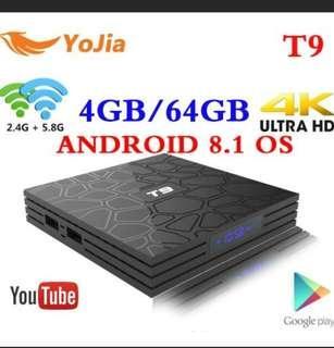 Android 8.1 TV Box VONTAR T9 4GB RAM 32GB Rockchip RK3328 1080P H 265 4K  Google Player Store Netflix Youtube TVBOX pk Mi S