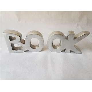 BO OK Stainless Steel Bookend