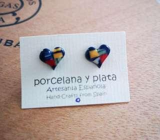 西班牙製造陶瓷耳環