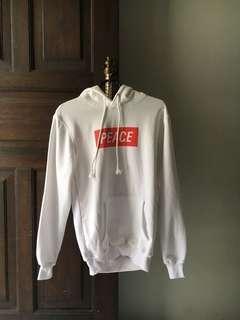 hoodie peace white