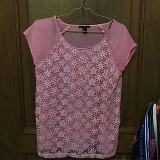Forever21 Pink Cute Top