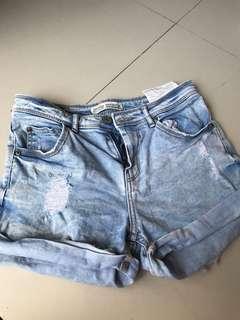 BERSHKA Denim short pants