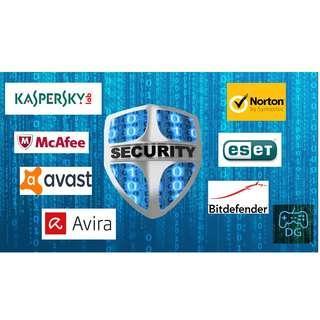 Norton / ESET NOD32 / Avira / Avast / Kaspersky / BitDefender / AVG 防毒軟件