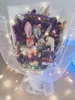 Instock preserved bouquet with LED
