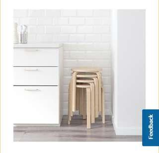Looking For IKEA Frosta Wood Wooden Stackable Stools