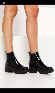 glossy boots