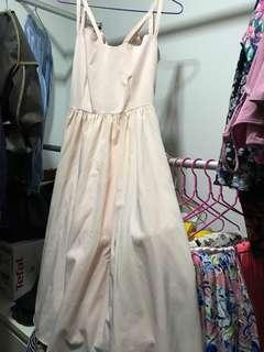 Baby pink fairy midi dress