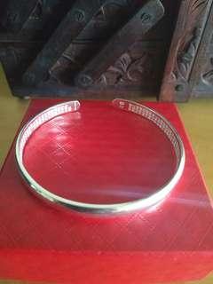 999 silver guan yin sutra bangle