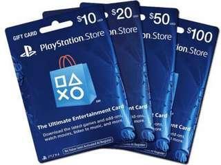 Playstation Network Credits & Subscription-US Account